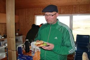 Formaðurinn borðar